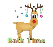 Bath Time - ChristmasReindeer