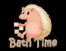 Bath Time - CutePorcupine