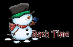 Bath Time - Snowman&Bird