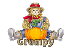 Grumpy - AutumnScarecrowSitting