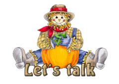 Let's talk - AutumnScarecrowSitting