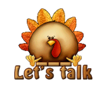 Let's talk - ThanksgivingCuteTurkey