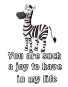 You are such a joy to have in my life - DancingZebra