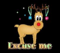 Excuse me - ChristmasReindeer