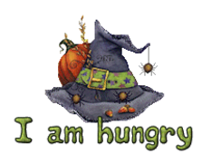 I am hungry - CuteWitchesHat