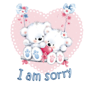I am sorry - ValentineBearsCouple2016