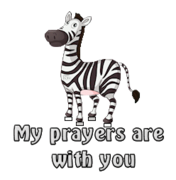 My prayers are with you - DancingZebra