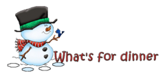 What's for dinner - Snowman&Bird