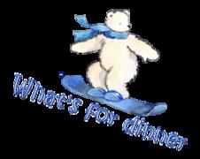 What's for dinner - SnowboardingPolarBear
