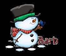 Barb - Snowman&Bird