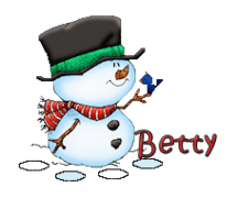 Betty - Snowman&Bird
