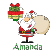 Amanda - SantaDeliveringGifts