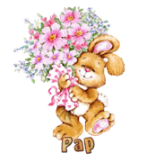 Pap - BunnyWithFlowers