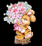 Huggz - BunnyWithFlowers