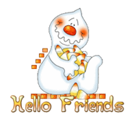 Hello Friends - CandyCornGhost