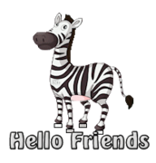 Hello Friends - DancingZebra