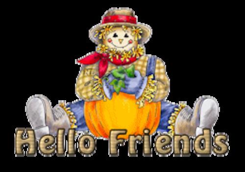 Hello Friends - AutumnScarecrowSitting
