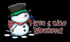 Have a nice WE - Snowman&Bird