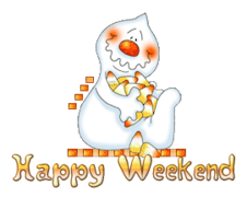 Happy Weekend - CandyCornGhost