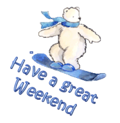 Have a great WE - SnowboardingPolarBear