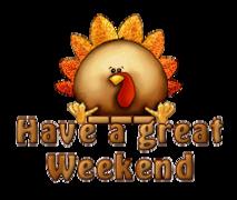 Have a great WE - ThanksgivingCuteTurkey