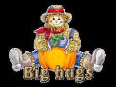 Big hugs - AutumnScarecrowSitting