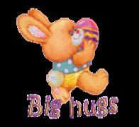 Big hugs - EasterBunnyWithEgg2016