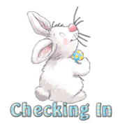 Checking In - HippityHoppityBunny