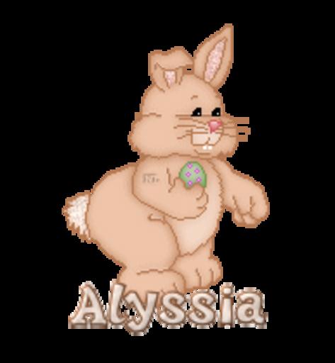 Alyssia - BunnyWithEgg