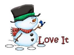 Love It - Snowman&Bird