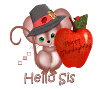 Hello Sis - ThanksgivingMouse