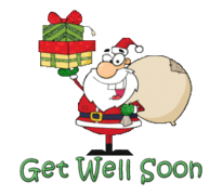 Get Well Soon - SantaDeliveringGifts