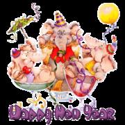 Happy New Year -Elephants