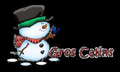 Gros Calins - Snowman&Bird