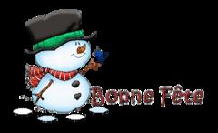 Bonne Fete - Snowman&Bird