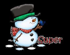 Super - Snowman&Bird