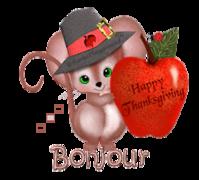Bonjour - ThanksgivingMouse