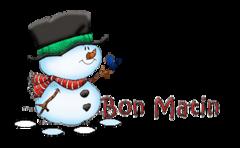 Bon Matin - Snowman&Bird
