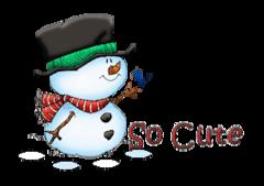 So Cute - Snowman&Bird