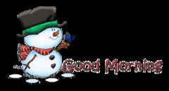 Good Morning - Snowman&Bird