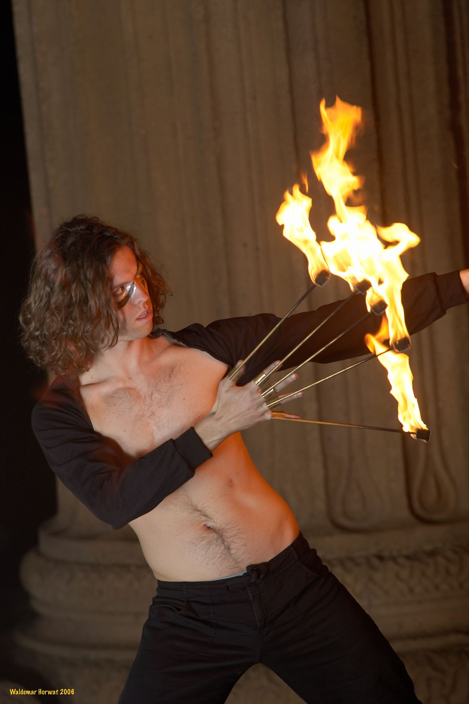 Ian with Fire Fingers