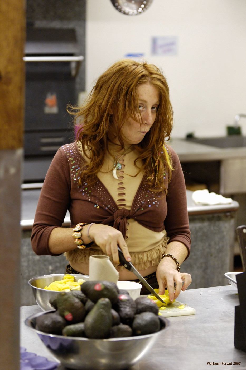 Sharon with Knife