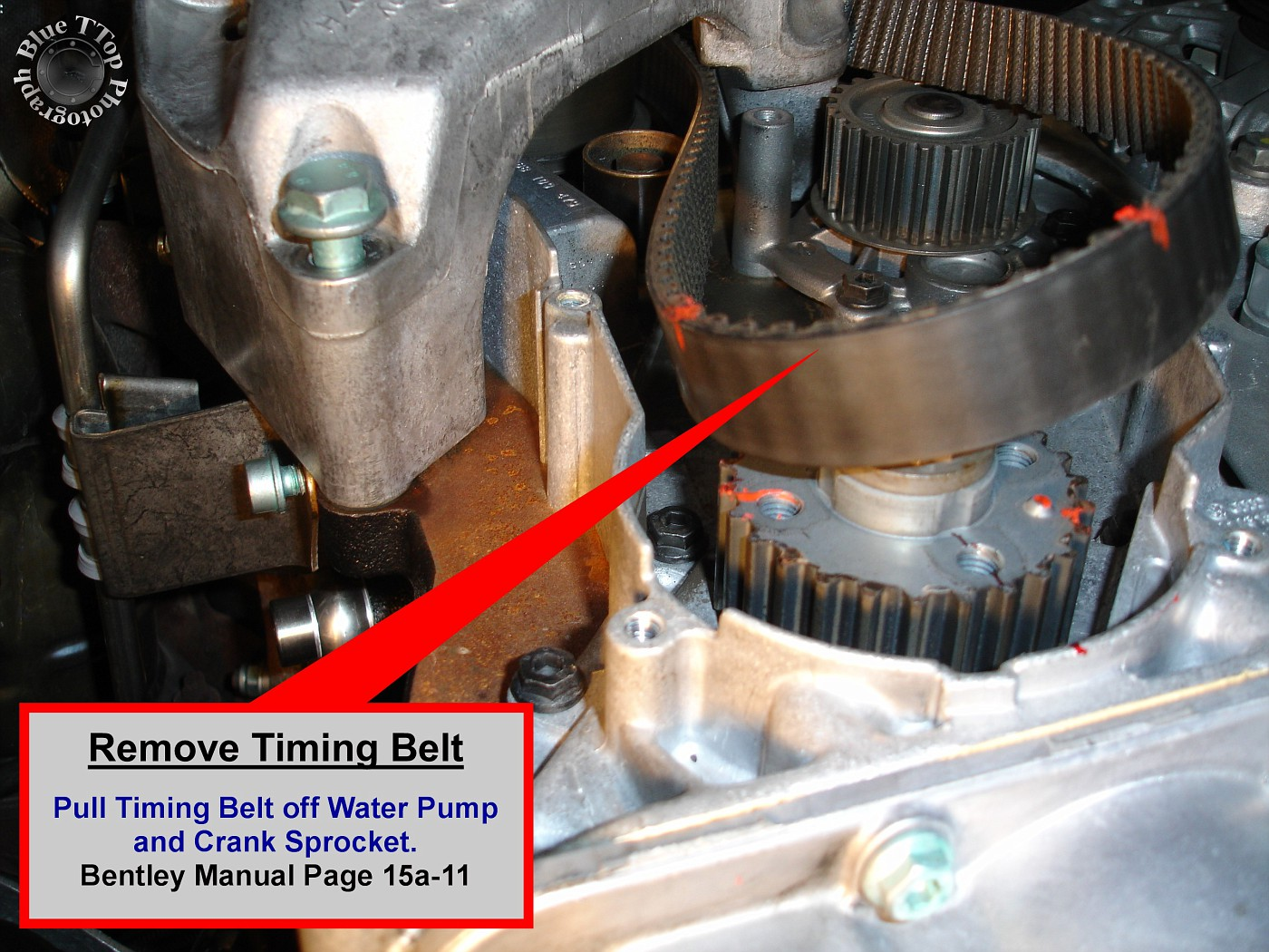 timing belt replacement writeup with 61 pictures and 44 steps rh audiworld com Audi A3 Hatchback Audi A3 TDI