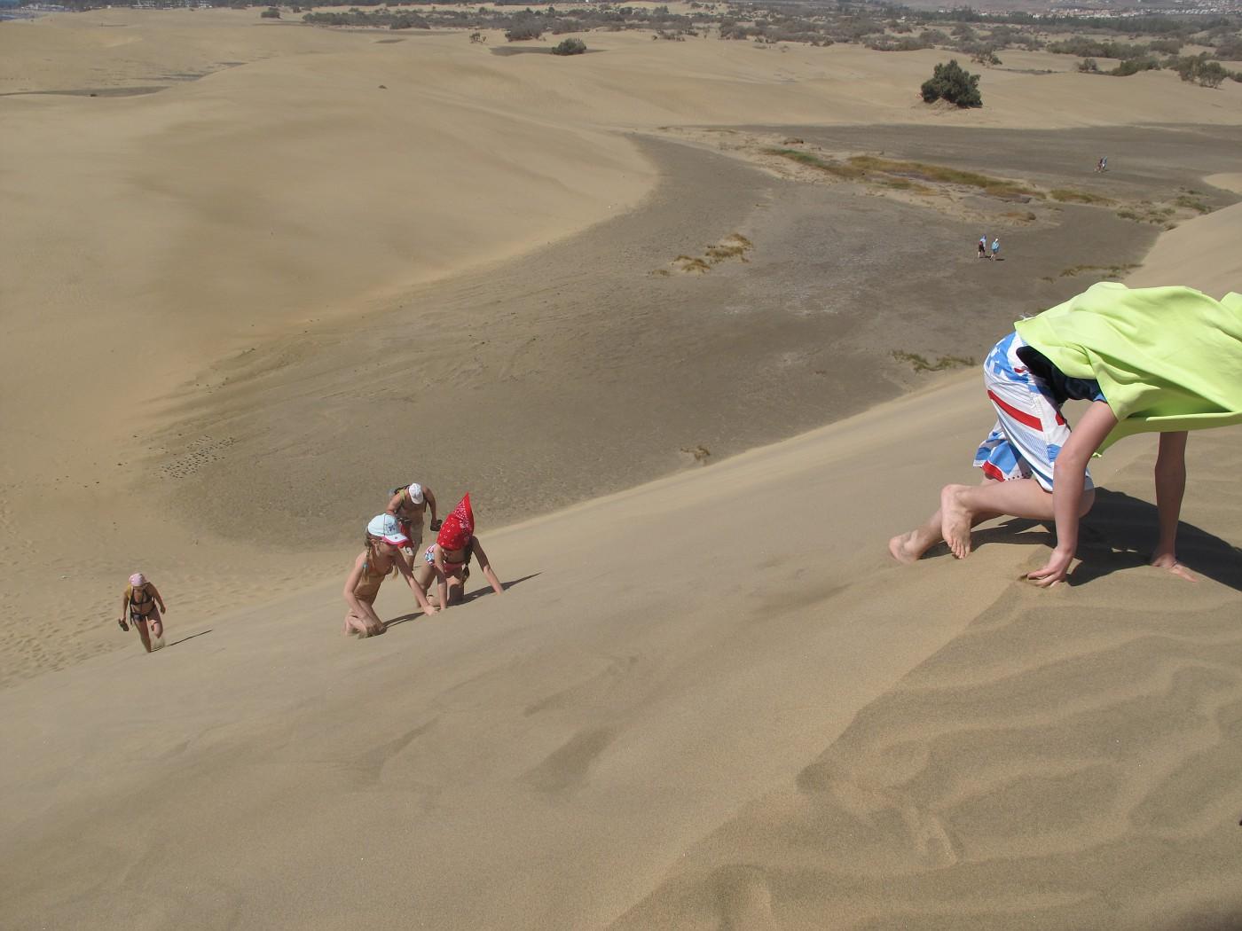Дети на дюнах