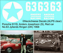DE-025 Porsche 911S Anders Josephson (S) Red car