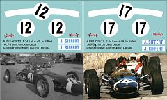 RF1-035/12 and RF1-035/17 Lotus 49 Jo Siffert Lotus