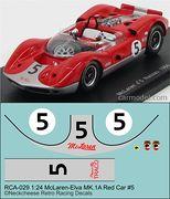 RCA-036 1-24 McLaren M1A #5 red-silver car, DKK 60,- / € 8,80 + postage