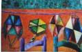 """Cerfs Volants 22"""" x 18""""  Huile sur canvas"""