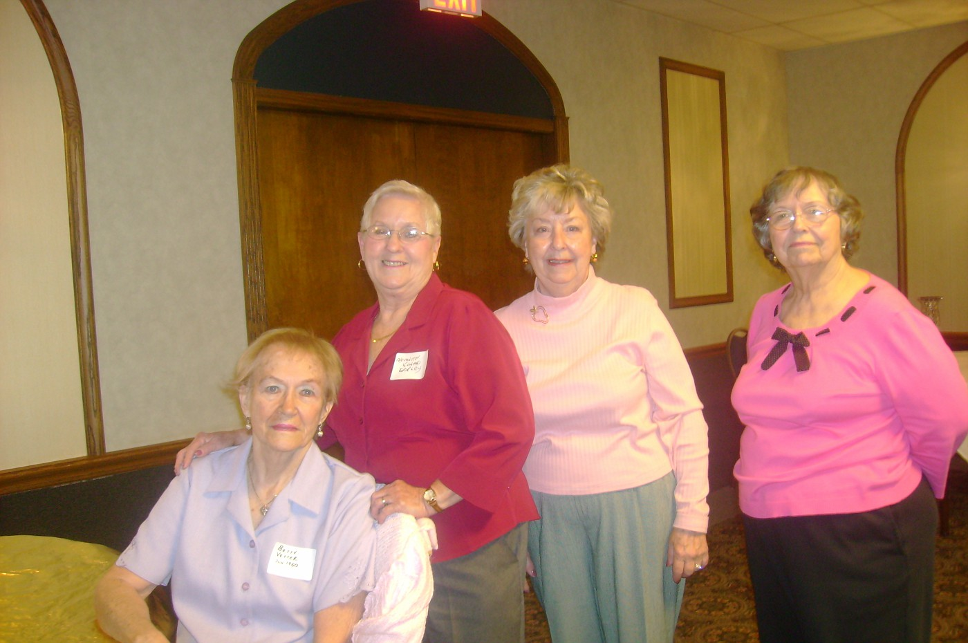 Betty Vetter, Meredith Early, Gloria Stelfox, Shirley Plumlee