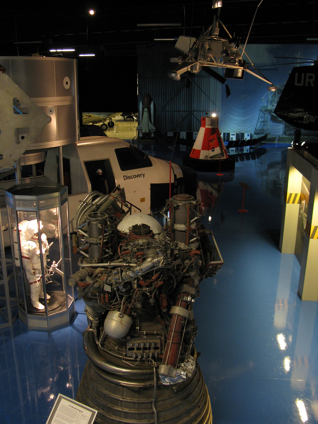 View of the space exhibit